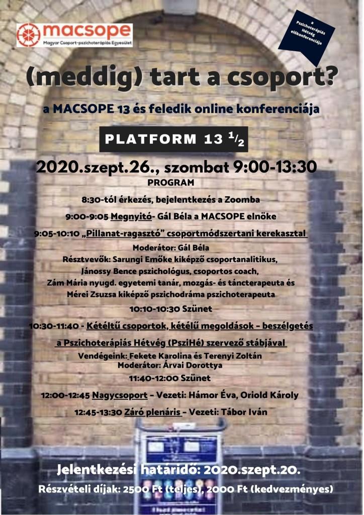 macsope meddig tart a csoport online 2020
